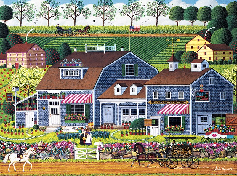 Charles Wysocki: Prairie Wind Flowers - 1000pc Jigsaw Puzzle by Buffalo Games  			  					NEW