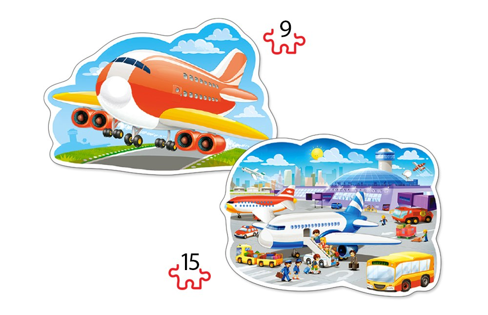 Airport Adventures - 2 x 9pc Jigsaw Puzzle By Castorland