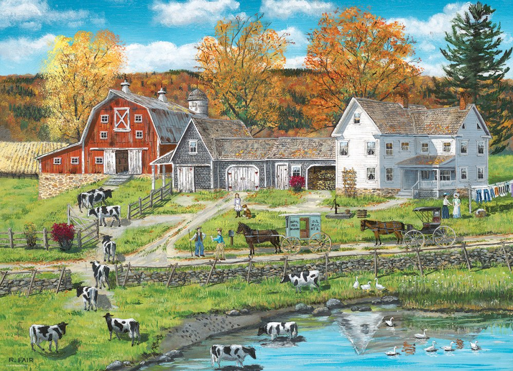Fair: Farm by the Lake - 300pc Jigsaw Puzzle by Eurographics  			  					NEW