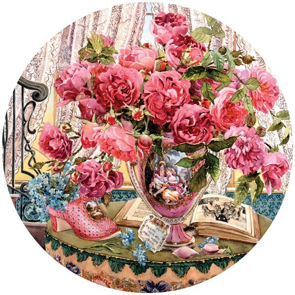 Flowers Bring Smiles: Tales (Light Pink) - 500pc Jigsaw Puzzle by Holdson  			  					NEW
