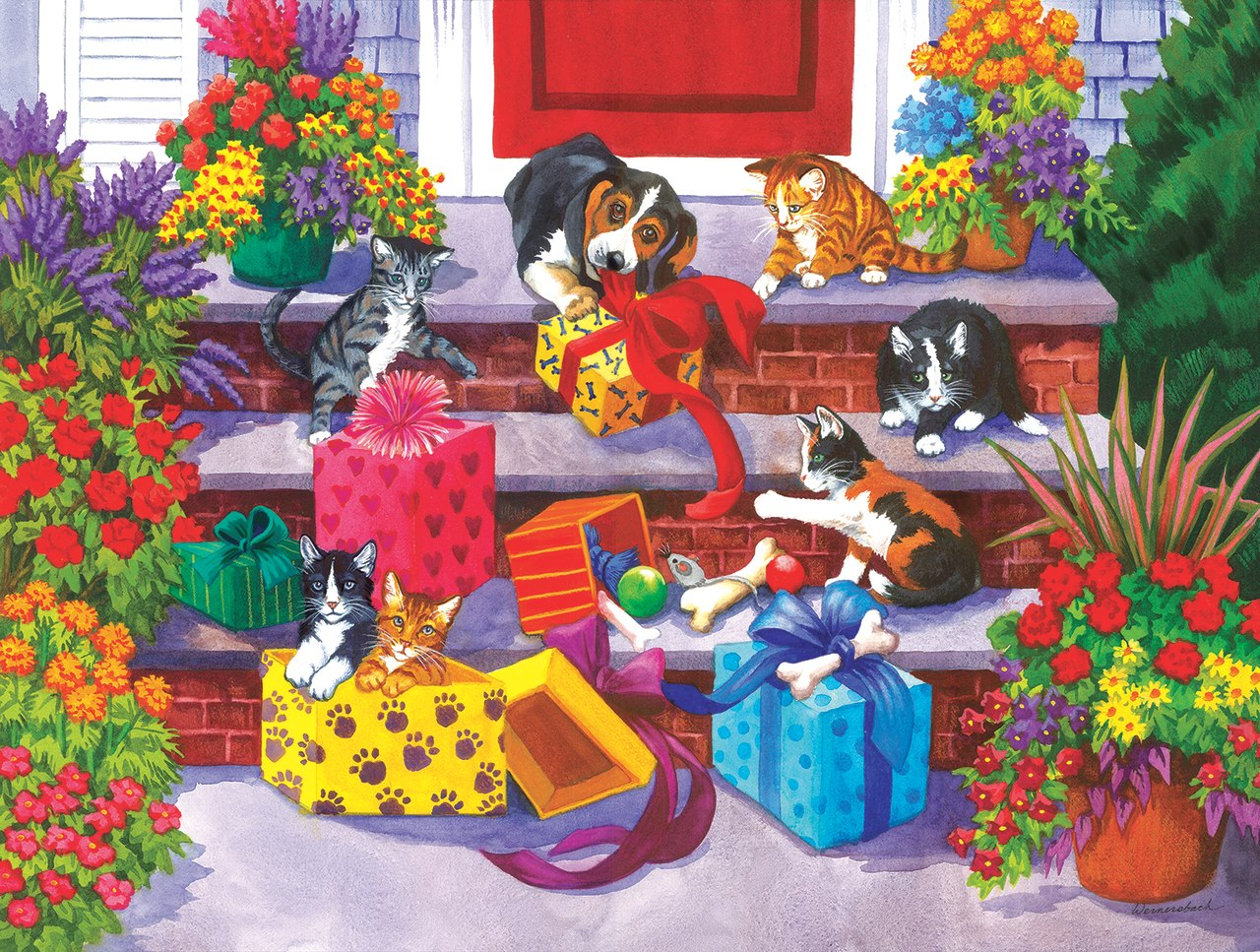 Time for Toys and Treats - 1000pc Jigsaw Puzzle by Sunsout  			  					NEW