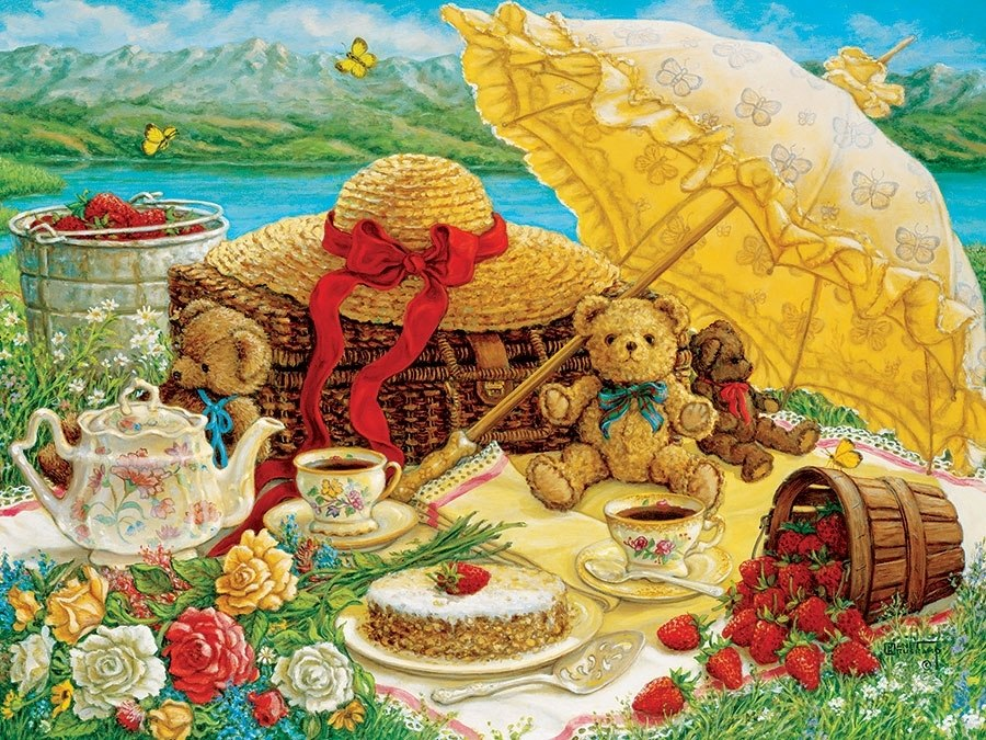 Teddy Bear Picnic - 500pc Jigsaw Puzzle by Cobble Hill