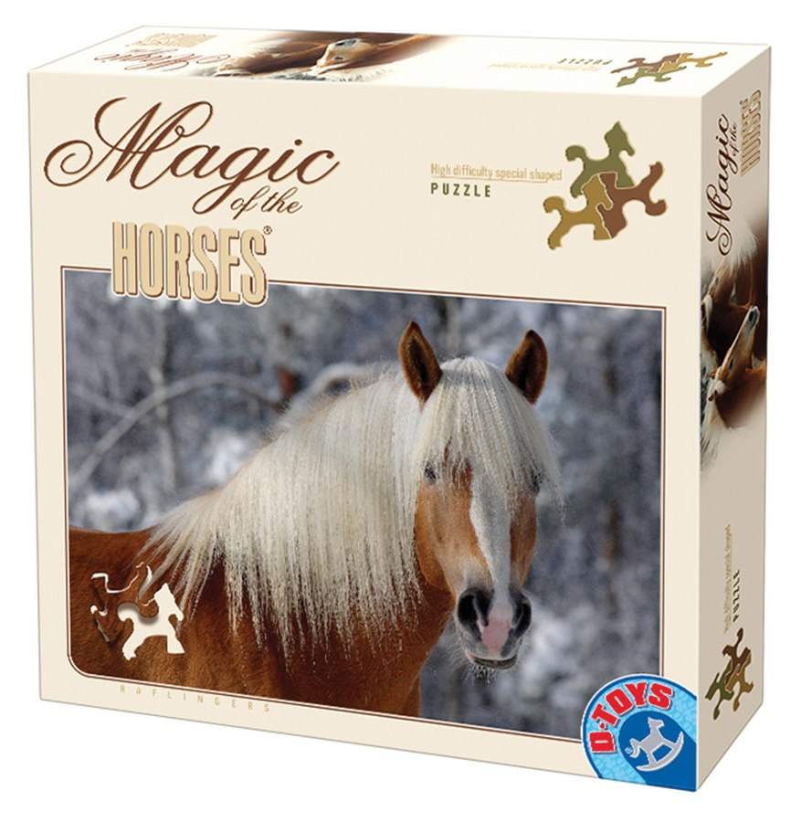 Haflinger Solo - Horse Shaped Pieces- 239pc Jigsaw Puzzle by D-Toys