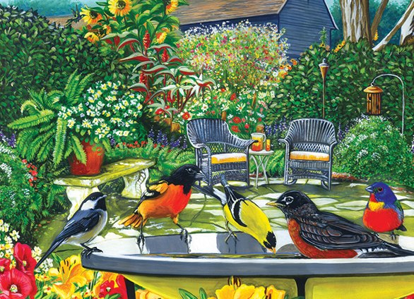 Bird Bath - 500pc Jigsaw Puzzle By Cobble Hill