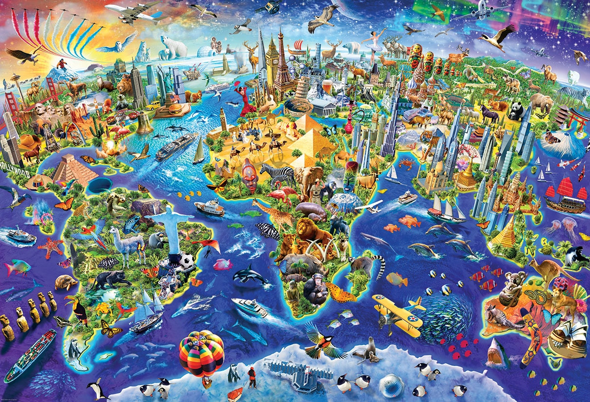 Adrian: Crazy World - 2000pc Jigsaw Puzzle by Eurographics  			  					NEW
