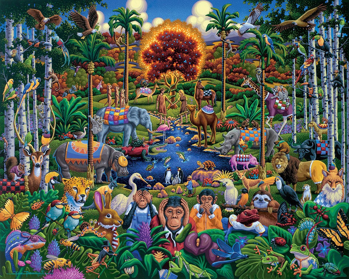 Animals of Eden - 500pc Jigsaw Puzzle by Dowdle  			  					NEW