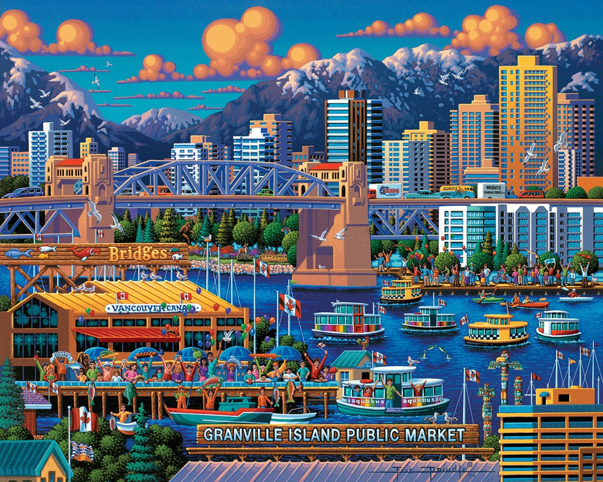 Granville Island - 1000pc Jigsaw Puzzle by Dowdle  			  					NEW