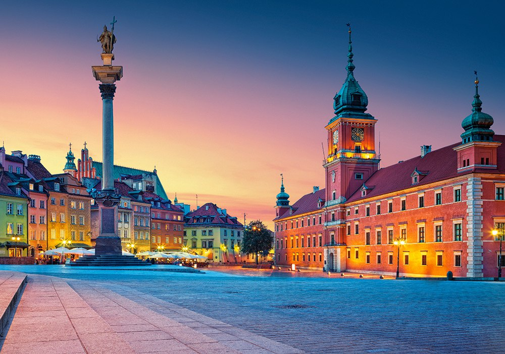 Castle Square in Warsaw - 500pc Jigsaw Puzzle By Castorland