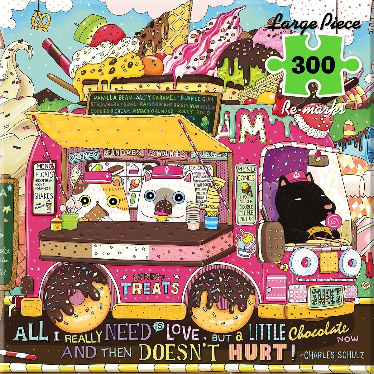 Ice Cream Truck - 300pc Large Format Jigsaw Puzzle By Re-marks  			  					NEW