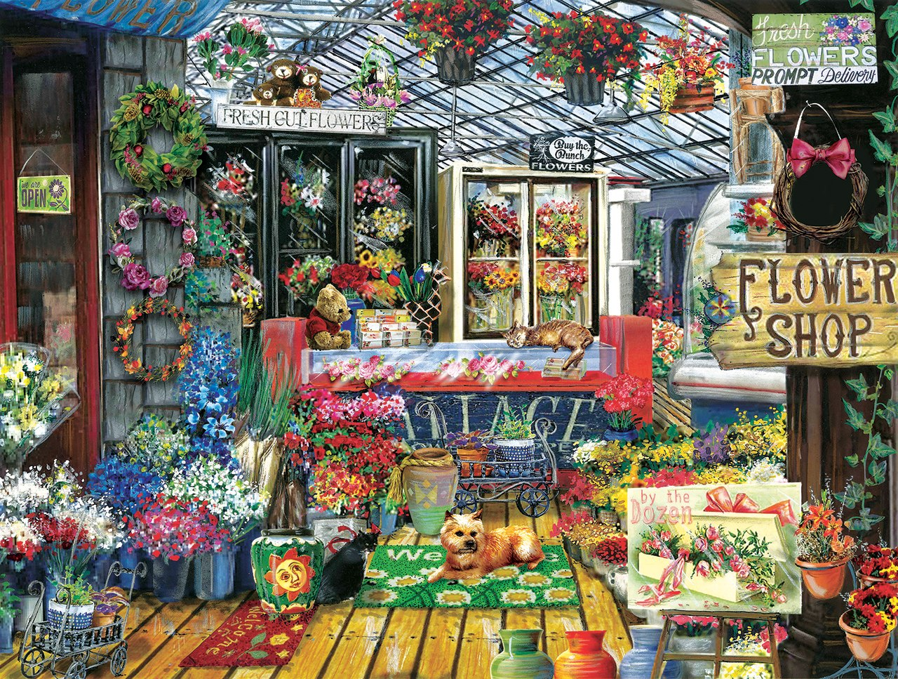Fresh Cut Flowers - 500pc Jigsaw Puzzle by Sunsout  			  					NEW