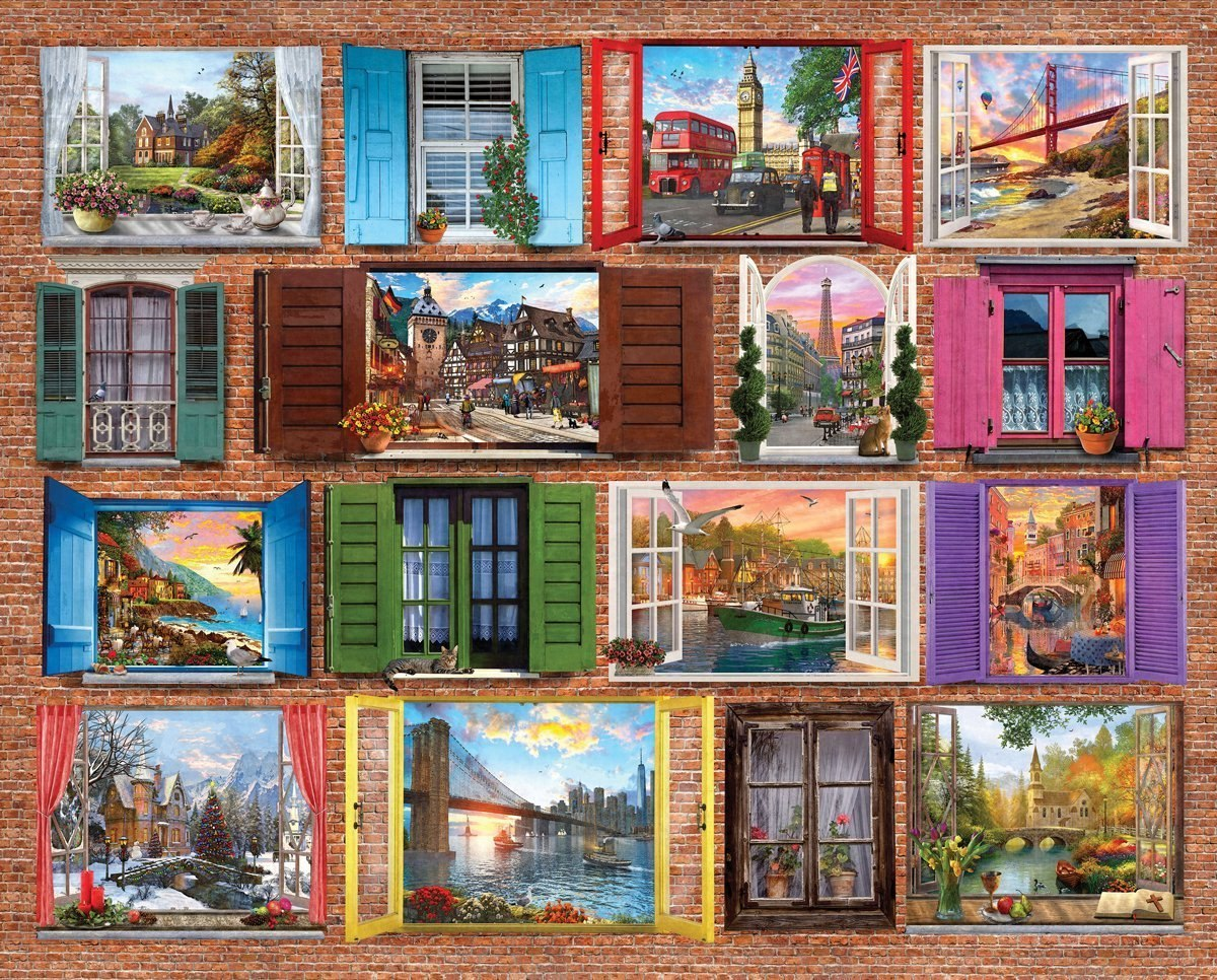 Windows to the World - 1000pc Jigsaw Puzzle By Springbok  			  					NEW