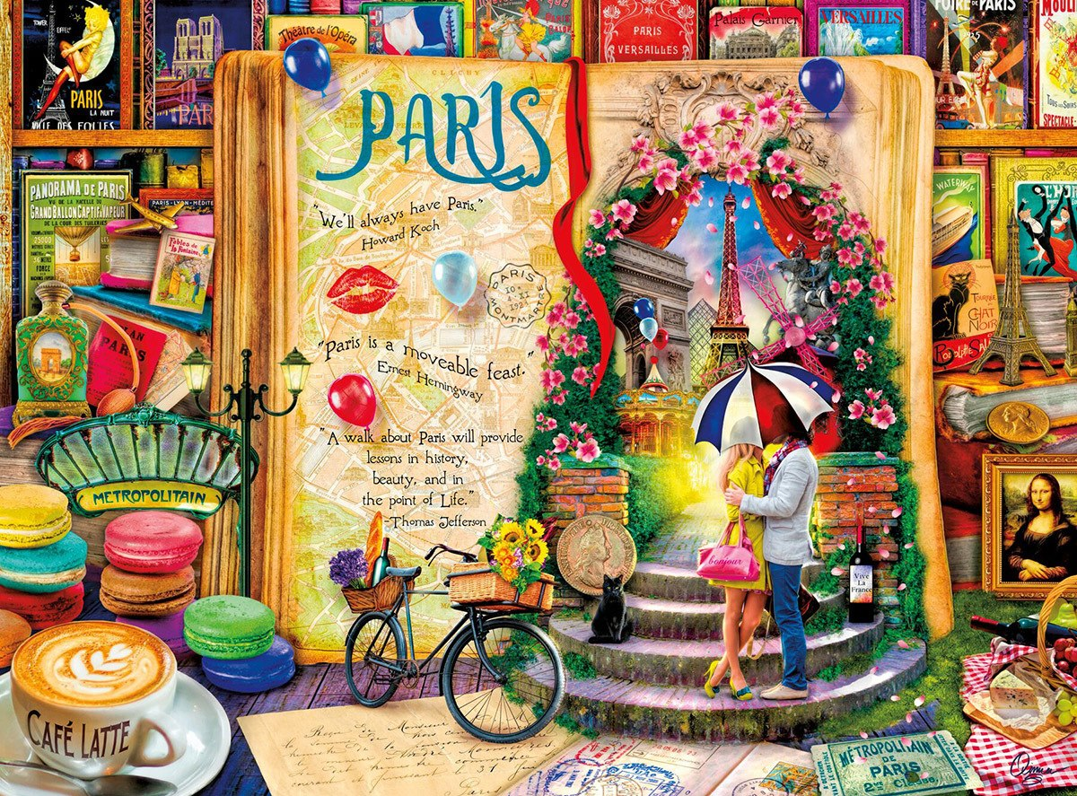Life is an Open Book: Paris - 1000pc Jigsaw Puzzle by Holdson  			  					NEW