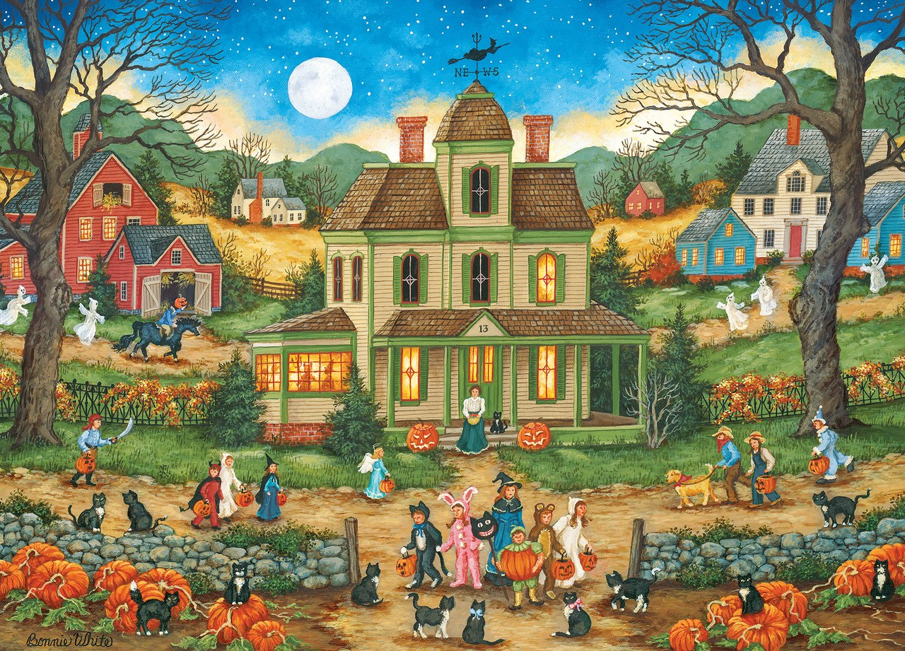 Halloween: Lucky Thirteen - 1000pc Jigsaw Puzzle by Masterpieces  			  					NEW