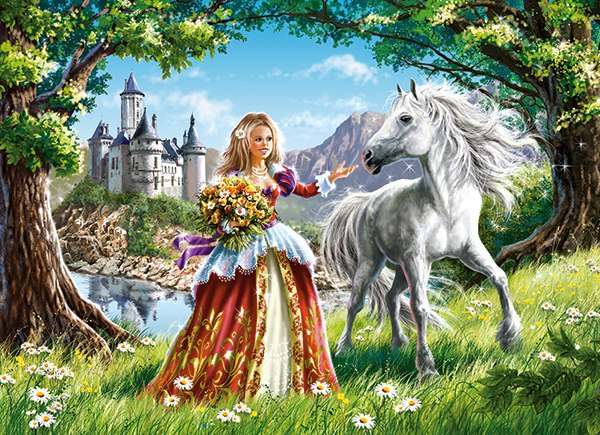 Princess and Her Friend - 60pc Jigsaw Puzzle By Castorland