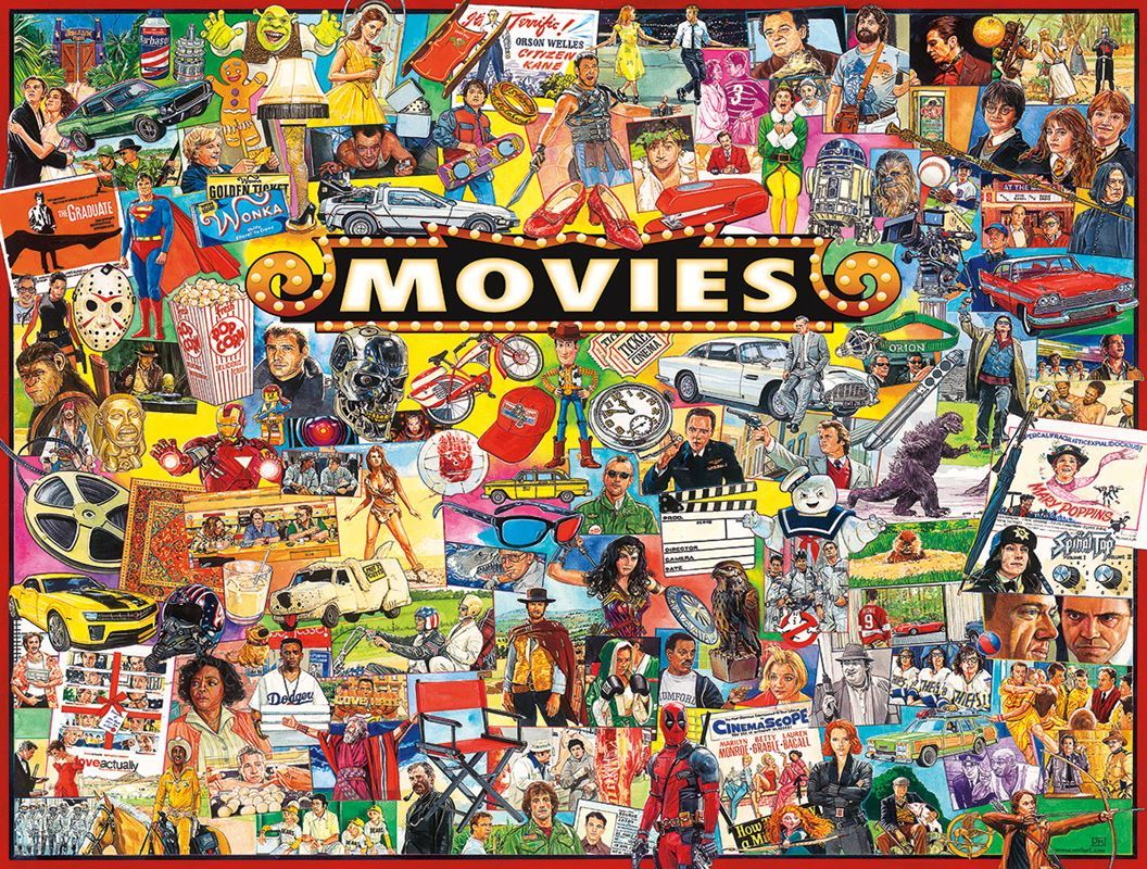 Movies - 1000pc Jigsaw Puzzle By White Mountain  			  					NEW