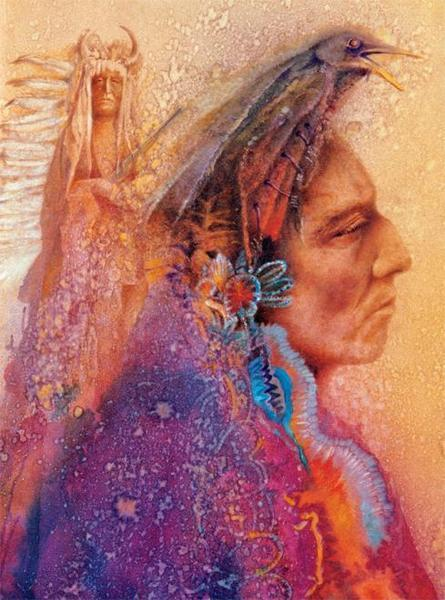 Native Spirit: Soul Crow - 1000pc Jigsaw Puzzle by Ceaco  			  					NEW