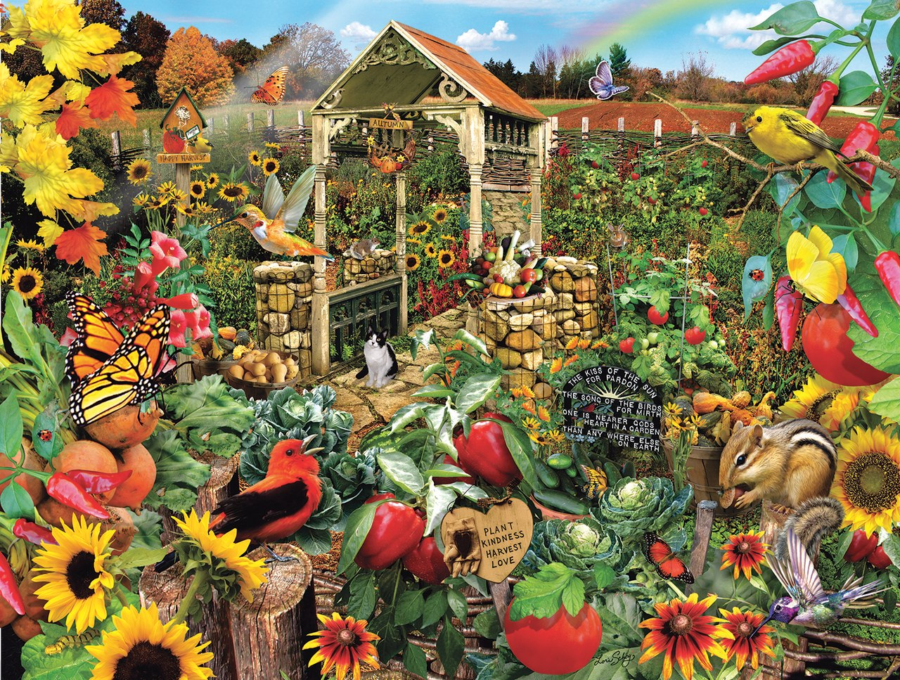 Community Garden - 500pc Jigsaw Puzzle by Sunsout  			  					NEW