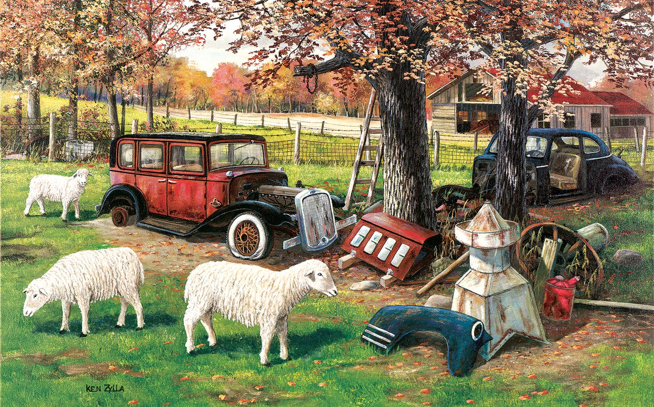 Out to Pasture - 300pc Jigsaw Puzzle By Sunsout  			  					NEW