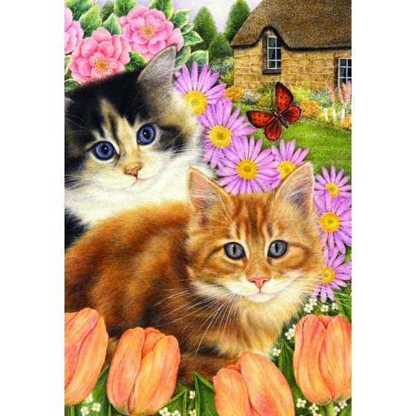 Country Cats: Springtime Pals - 500pc Jigsaw Puzzle by Holdson  			  					NEW