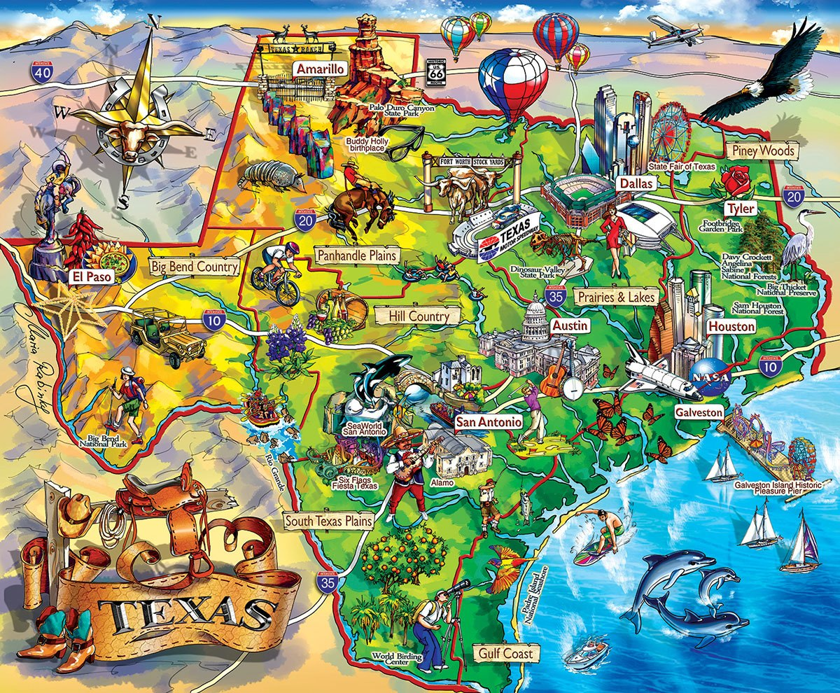 Texas!!! - 1000pc Jigsaw Puzzle By Sunsout  			  					NEW