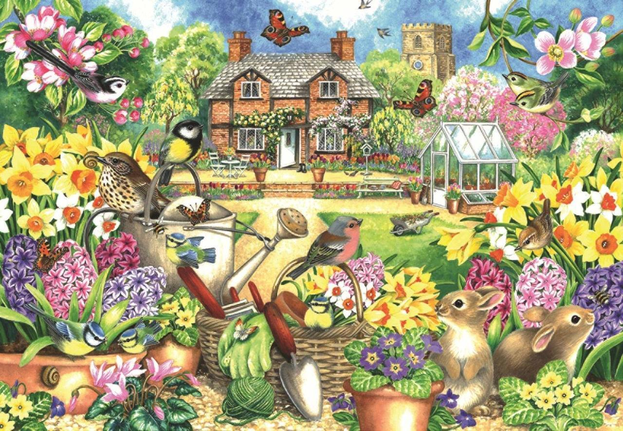 Spring Garden - 1000pc Jigsaw Puzzle By Falcon  			  					NEW