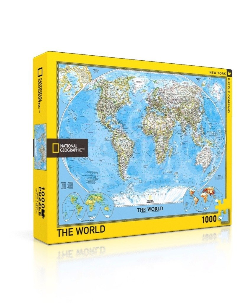 The World - 1000pc Jigsaw Puzzle by New York Puzzle Company  			  					NEW