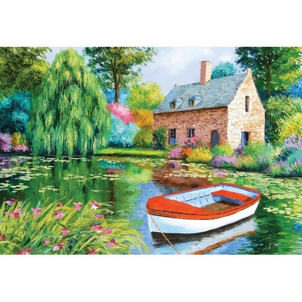 Summer Times: The House Pond - 500pc Jigsaw Puzzle by Holdson  			  					NEW