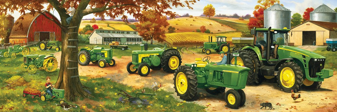 John Deere: John Deere Legacy Pano - 1000pc Panoramic Jigsaw Puzzle by Masterpieces
