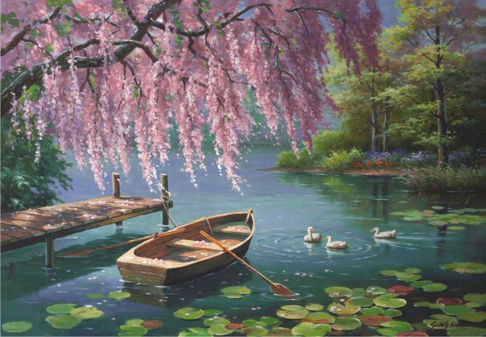 Willow Spring Beauty - 500pc Jigsaw Puzzle by Anatolian