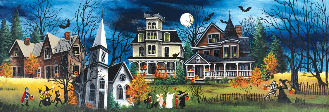Spooky Lane - 500pc Jigsaw Puzzle by SunsOut