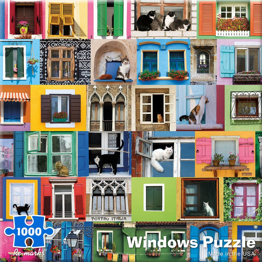 Windows - 1000pc Jigsaw Puzzle By Re-marks  			  					NEW