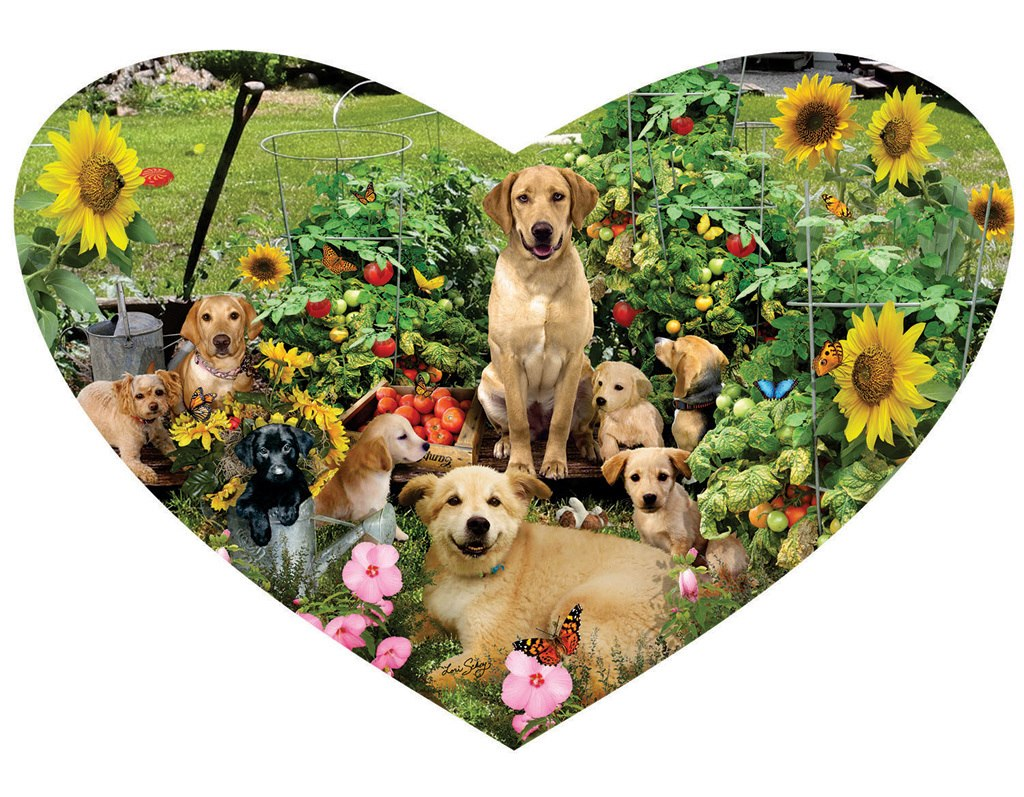 Puppy Heart - 200pc Shaped Jigsaw Puzzle by SunsOut