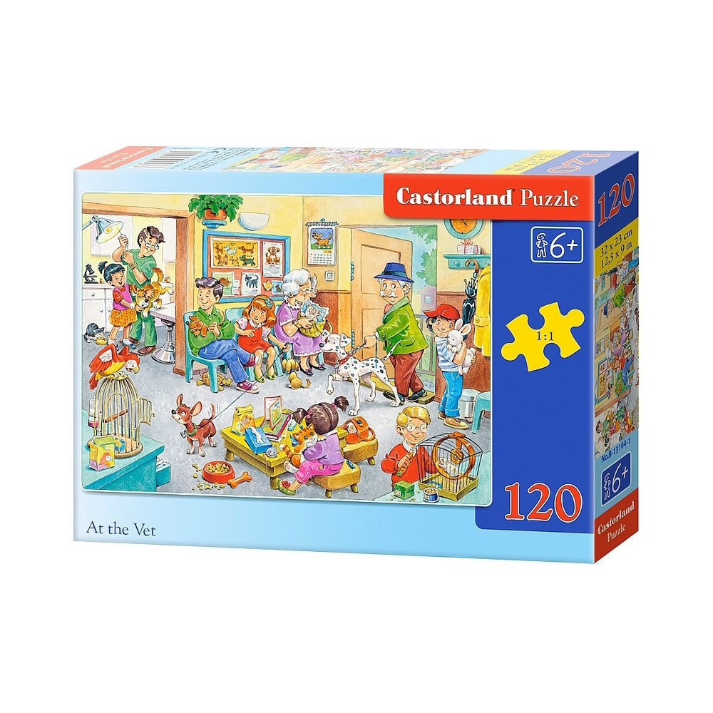 At the Vet - 120pc Jigsaw Puzzle By Castorland