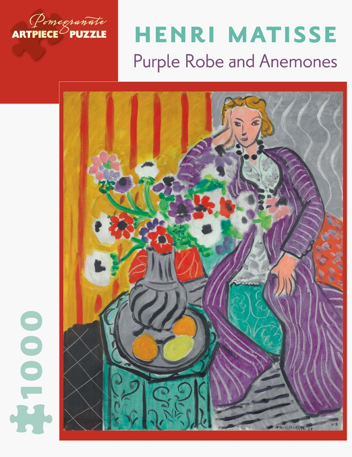 Matisse: Purple Robe and Anemones - 1000pc Jigsaw Puzzle by Pomegranate