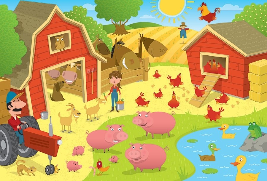 Higgledy Piggledy Farm - 36pc Floor Puzzle by Cobble Hill