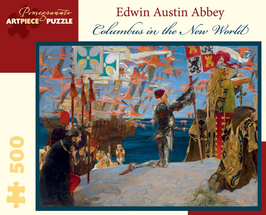 Abbey: Columbus in the New World - 500pc Jigsaw Puzzle by Pomegranate  			  					NEW