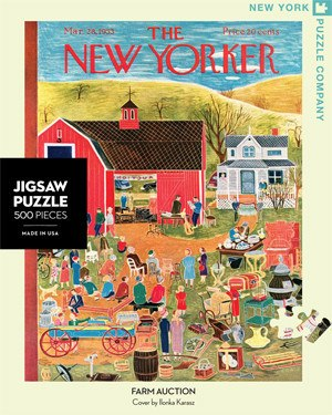 Farm Auction - 500pc Jigsaw Puzzle by New York Puzzle Co.