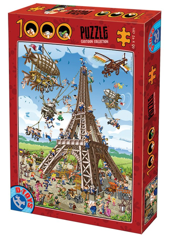 Building the Eiffel Tower - 1000pc Jigsaw Puzzle by D-Toys