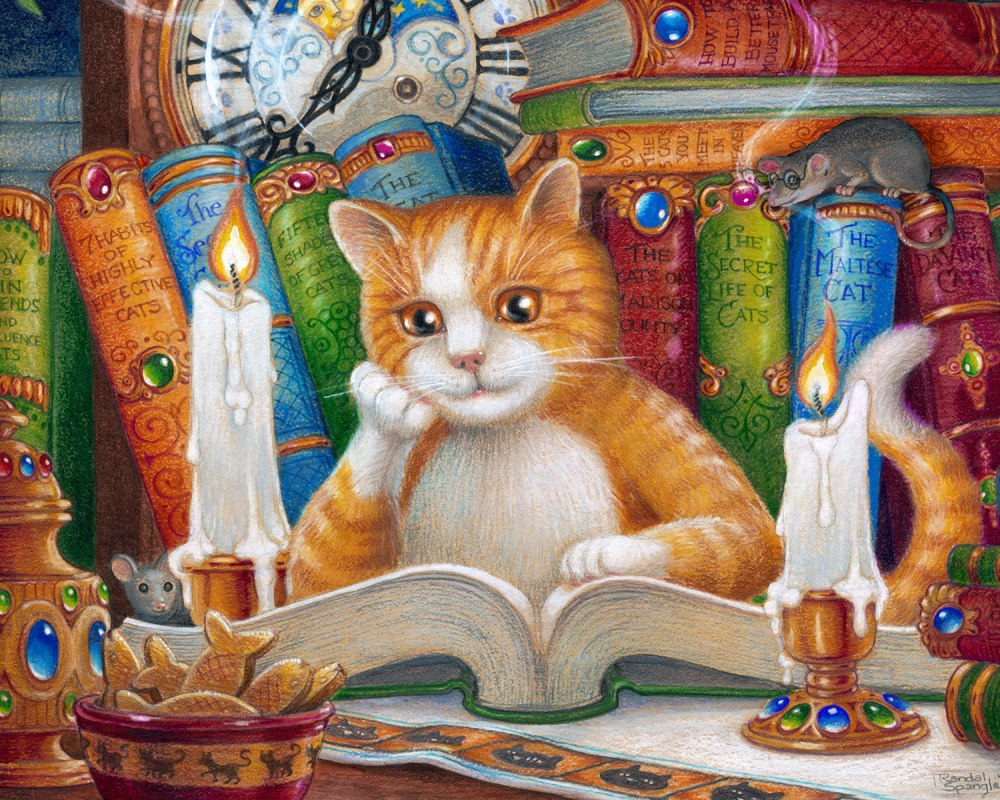 The Literate Cat - 1000pc Jigsaw Puzzle by Vermont Christmas Company