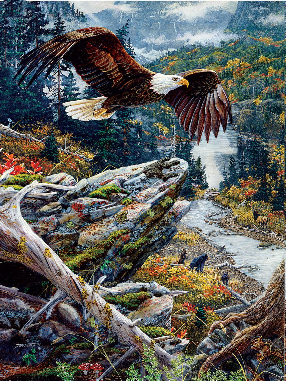 Mountain Flight - 1000pc Jigsaw Puzzle by Sunsout