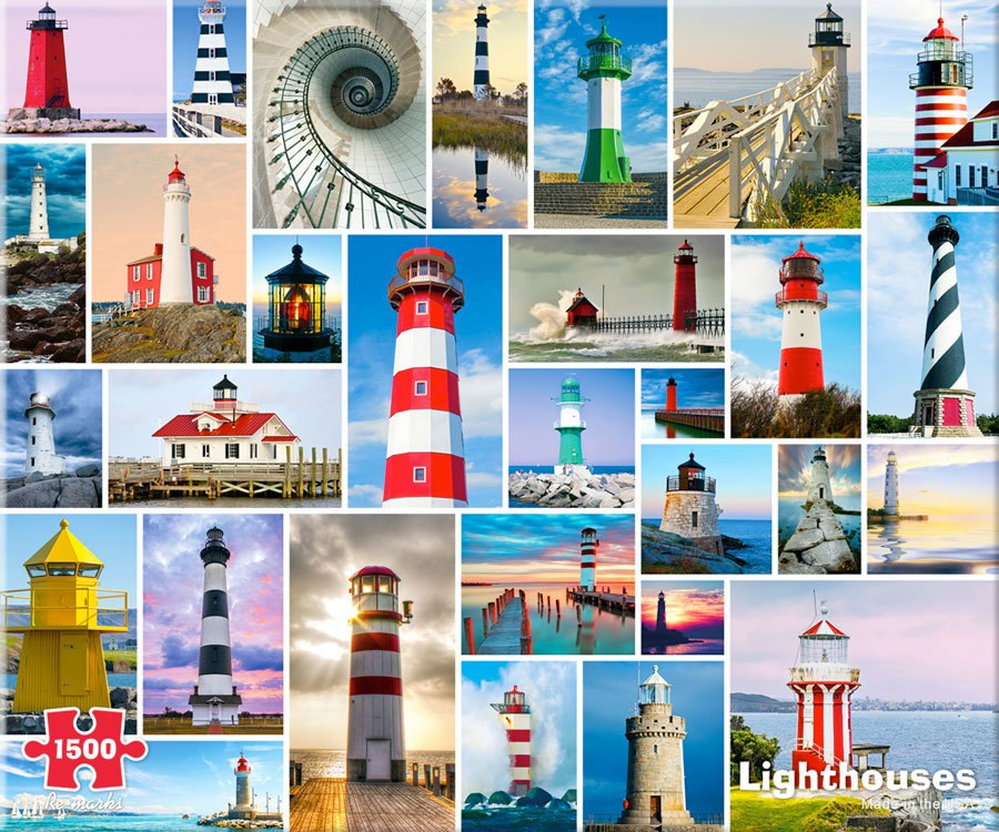 Lighthouses - 1500pc Jigsaw Puzzle By Re-marks  			  					NEW