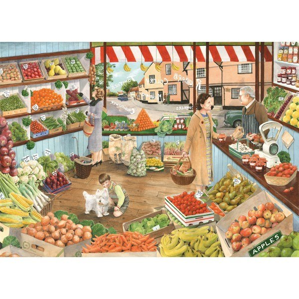 Times Past: The Green Grocer - 1000pc Jigsaw Puzzle by Holdson  			  					NEW