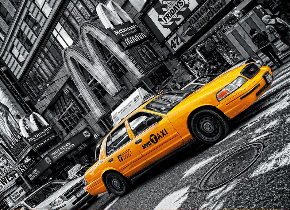 NY Taxi - 1000pc Jigsaw Puzzle by Clementoni