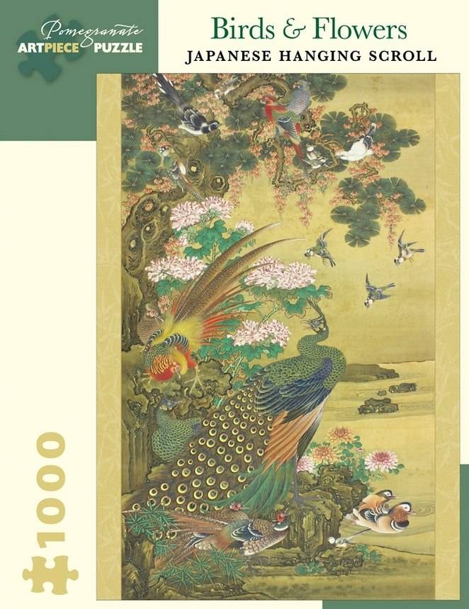 Birds & Flowers: Japanese Hanging Scroll - 1000pc Jigsaw Puzzle by Pomegranate  			  					NEW