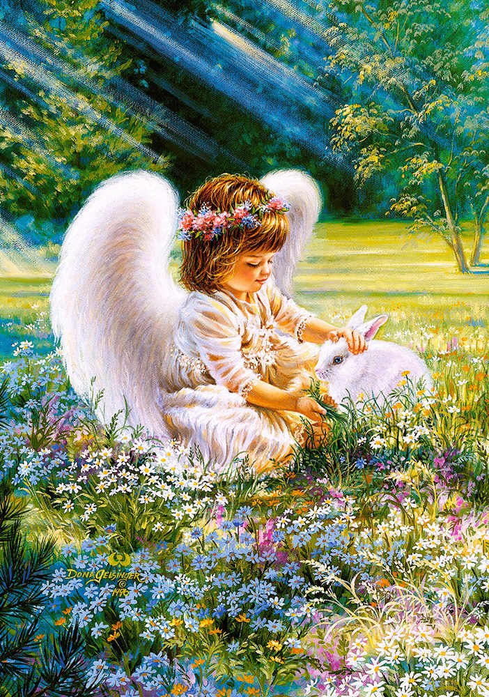 An Angel's Care - 500pc Jigsaw Puzzle by Castorland  			  					NEW