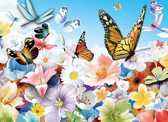 3D Puzzle: Flowers - 100pc Lenticular Jigsaw Puzzle  			  					NEW