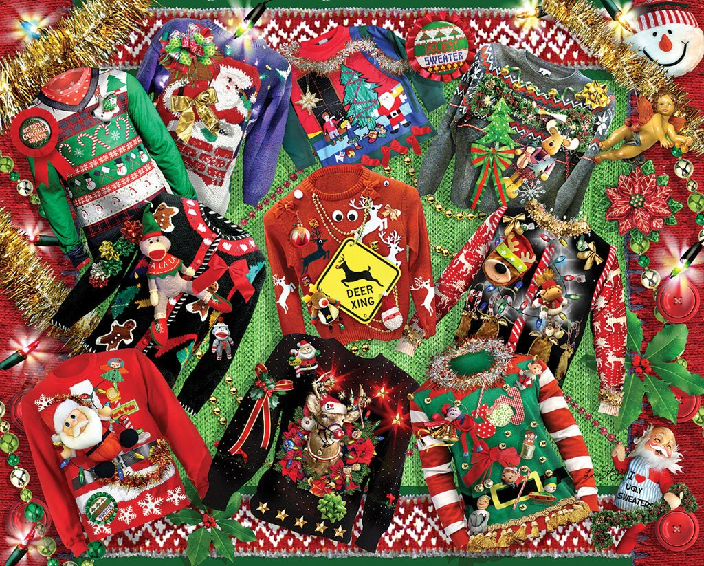 Ugly Sweaters - 1000pc Jigsaw Puzzle by White Mountain