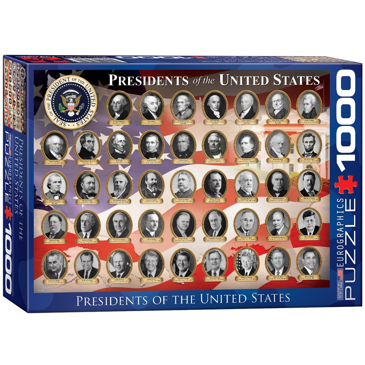 US Presidents - 1000pc Jigsaw Puzzle by Eurographics