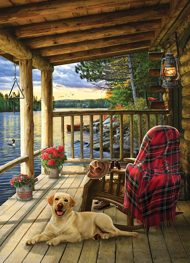 Cabin Porch - 1000pc Jigsaw Puzzle by Jack Pine  			  					NEW