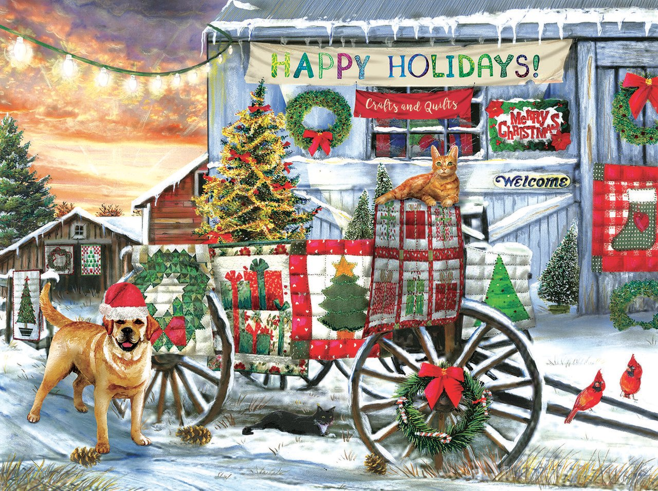 Holiday Wagon - 1000pc Jigsaw Puzzle By Sunsout  			  					NEW